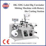 Dk-320g Étiquette Machine à découper Big Unwinder Label avec Rotary Die Cutting Station