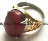 Anillo de dedo de piedra de la joyería de la manera del acero inoxidable (SCR2888)