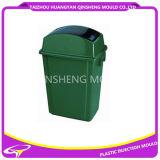 Molde redondo plástico do caixote de lixo da tampa do balanço