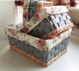 장식적인 Handmade 콘테이너 도매 선전용 수직 버드나무 바구니 (BC-ST1247)