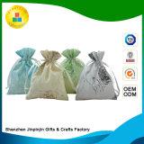 Sacchetto promozionale del regalo del cotone del Drawstring su ordinazione della iuta per imballaggio/impaccare