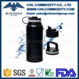 Botella alta calidad precio barato de agua del metal con asa de cuerda