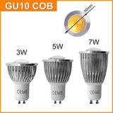 bulbo del proyector de la MAZORCA GU10 LED de 7W 110V