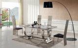 Комплекты обедая таблицы и стула нержавеющей стали Foshan Congling