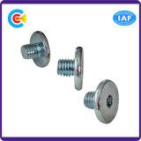Parafusos galvanizados Steel/4.8/8.8/10.9 da cabeça da tecla do hexágono do carbono para a estrada de ferro do edifício