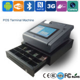 Machine de caissier d'écran tactile avec le lecteur et l'imprimante magnétiques de Bluetooth