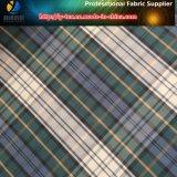 Tela escocesa teñida de los hilados de polyester de la tela cruzada para las chaquetas