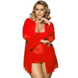 サイズの女性のとSexy Lingerie熱い販売の網の鐘の袖ローブ