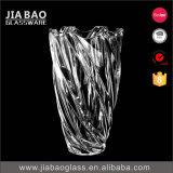 Vaso decorativo do vidro de cal da soda da margarida (GB1505XWH/PDS)