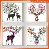 삽화 중국 공장에서 다채로운 사슴 색칠