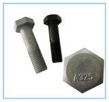 Grad-Hex Schraube des DIN933 Kohlenstoffstahl-8.8 mit HDG