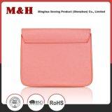 Bolsa cor-de-rosa portátil requintado das senhoras do desenhador do couro genuíno