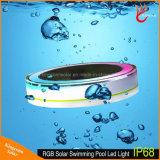 IP68 Lumière de piscine flottante solaire à LED colorée avec télécommande