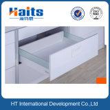 Роскошная система коробки металла с стеклянными и мягкими близкими скрынными скольжениями ящика,