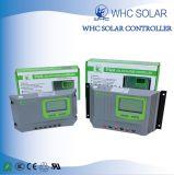 Contrôleur solaire intelligent de chargeur de l'affichage à cristaux liquides 12V/24V 20A PWM