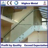 Support en verre pour la pêche à la traîne en verre d'escalier de balustrade de pêche à la traîne d'acier inoxydable