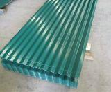 Hoja de aluminio acanalada del soldado enrollado en el ejército Steel/PPGI del material para techos del cinc/del azulejo de la onda