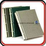 Livres anciens Couverture de lin en cuir couvert Livre de journal d'ordinateur portable