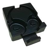 Schwarze Kopfhörer-Blasen-verpackentellersegment