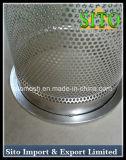 Filtro perfurado do cartucho do engranzamento do aço inoxidável, filtro de engranzamento do fio