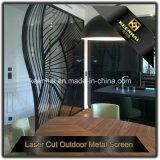 Écran de partition de salle de restaurant en acier inoxydable en métal