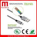 Кабель данным по Nylon оплетки микро- поручая к кабелю USB USB микро-
