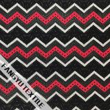 ジグザグ形の縞デザイン伸張のナイロンレースファブリック