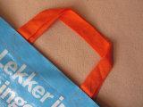 Изготовленный на заказ многоразовый сплетенный мешок Tote покупкы нормального размера для одежды