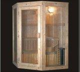 Sauna infravermelha de madeira maciça com tamanho personalizado (AT-8601)