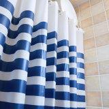 Cortina de chuveiro impermeável impressa moderna do banheiro do Anti-Mildew PEVA
