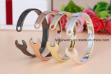 Fashion 316L Wrench Jewelry Bracelet à manchette en acier inoxydable