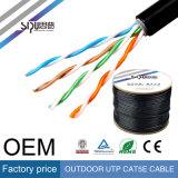 Cable de LAN al aire libre del precio de fábrica de Sipu UTP Cat5 para la red