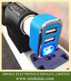 Le chargeur portatif de véhicule de téléphone cellulaire de l'adaptateur USB de chargeur de véhicule du triple USB avec 5V 5.2A a sorti pour l'iPhone