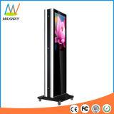Двойник стойки пола 32 дюймов встал на сторону экран дисплея LCD с колесами (MW-321ATN)