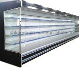 좋은 품질의 커튼을%s 가진 슈퍼마켓 냉장고