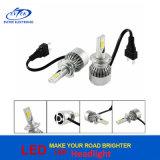 farol universal H7 H4 9005 9006 do diodo emissor de luz da luz C6 da cabeça da ESPIGA da lâmpada de 12V/24V 72W 7600lm auto