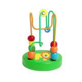 赤ん坊及び幼児のためのかわいい小型ビードの木のおもちゃ