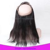 La peluca delantera del cordón de la venta al por mayor 360 con ajusta la correa
