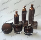 新しい到着の化粧品の包装のための水晶ブラウンシリーズアクリルのBottle&Jar (PPC-CPS-079)