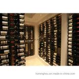 Rek van de Fles van de Wijn van de Opslag van de Vertoning van het Metaal van de Kelder van de wijn het Muur Opgezette