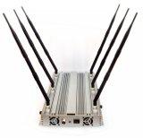 70W 6 bandes de bureau WiFi GPS 3G Jammer de téléphone jusqu'à 100 mètres