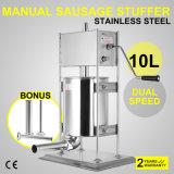 riempitore manuale verticale industriale dello Stuffer della salsiccia 10L