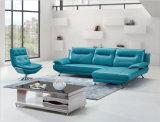 Sofá de cuero azul de la oficina de los muebles modernos de la sala de estar (HX-NSC282)