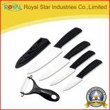 """3-6 """" pouce a estampé le jeu en céramique de couteau pour la vaisselle de cuisine réglée (RYST0107C)"""