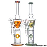Nouveau design Headshop Hitman Oil Rig Recycler droit Colorfull Glass Water Smoking Pipe