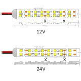 Riga indicatore luminoso del tubo 5050 impermeabili del silicone IP66 doppia di striscia del LED