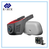 Volle HD verdoppeln Kameraobjektiv Dashcam WiFi Auto DVR