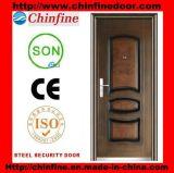 Porte en acier de garantie de porte populaire neuve de la qualité 2017 (CF-129)