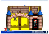 قصر قابل للنفخ مع منزلق