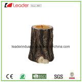 Polyresin высекло Древесин-Смотрит держатели для свечи для домашнего украшения